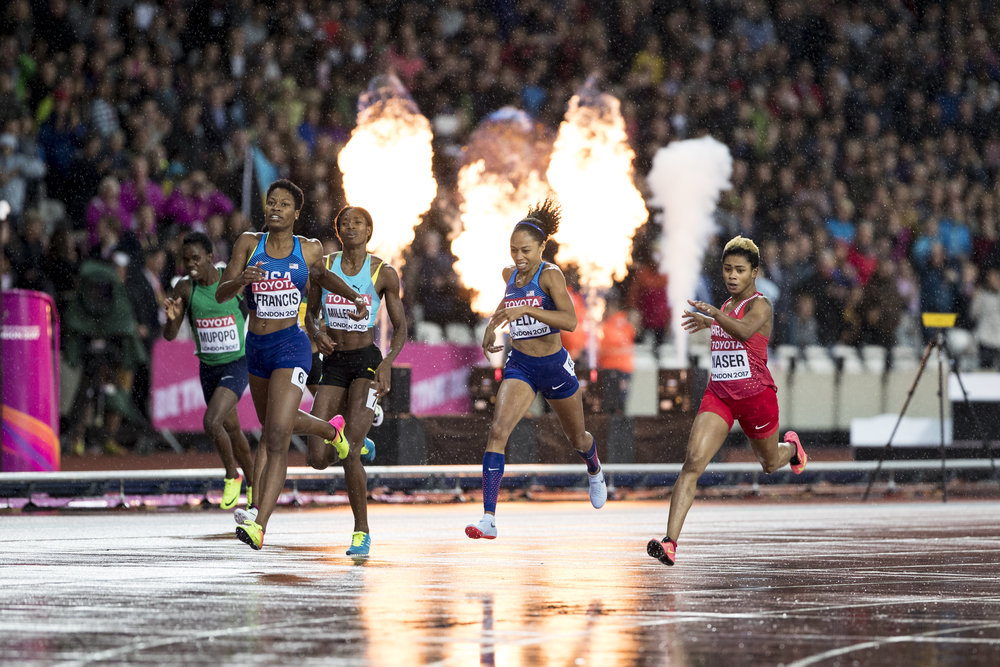 Day 6: Fire and Rain: The Women's 400m Final.