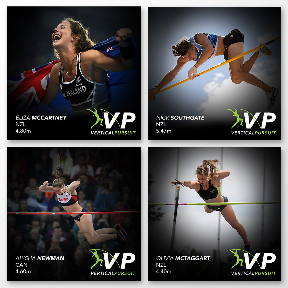 Promo squares introducing the athletes for social media