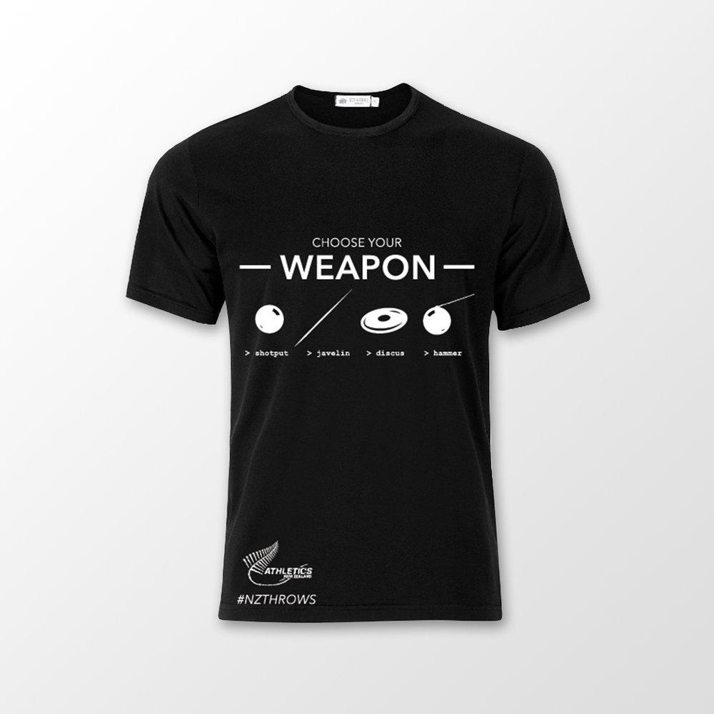 Athletics New Zealand Merchandise - Graphics for merchandise t-shirts in the Athletics New Zealand Fan Shop