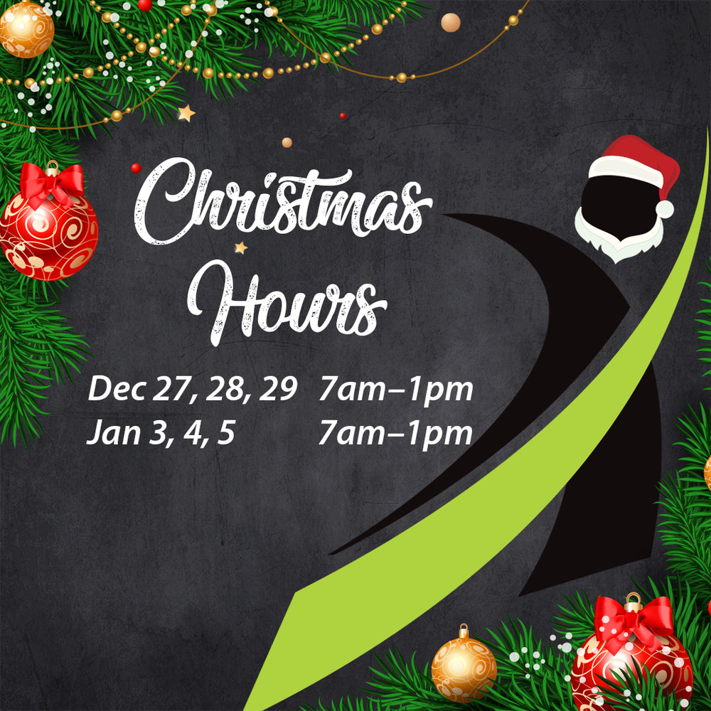 Social Media content for Sports Lab Xmas Hours (Also made in other sizes)