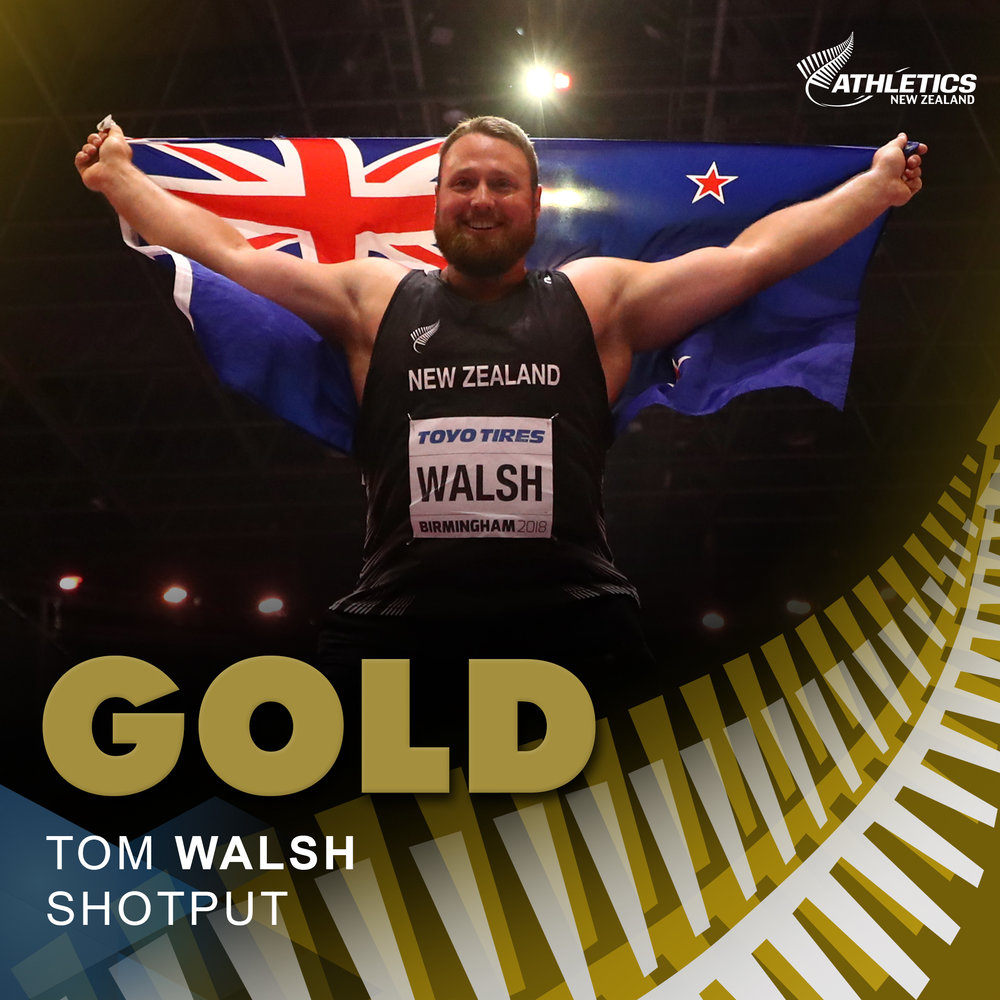 Celebrating Tom Walsh's Gold Medal: World Indoors 2018