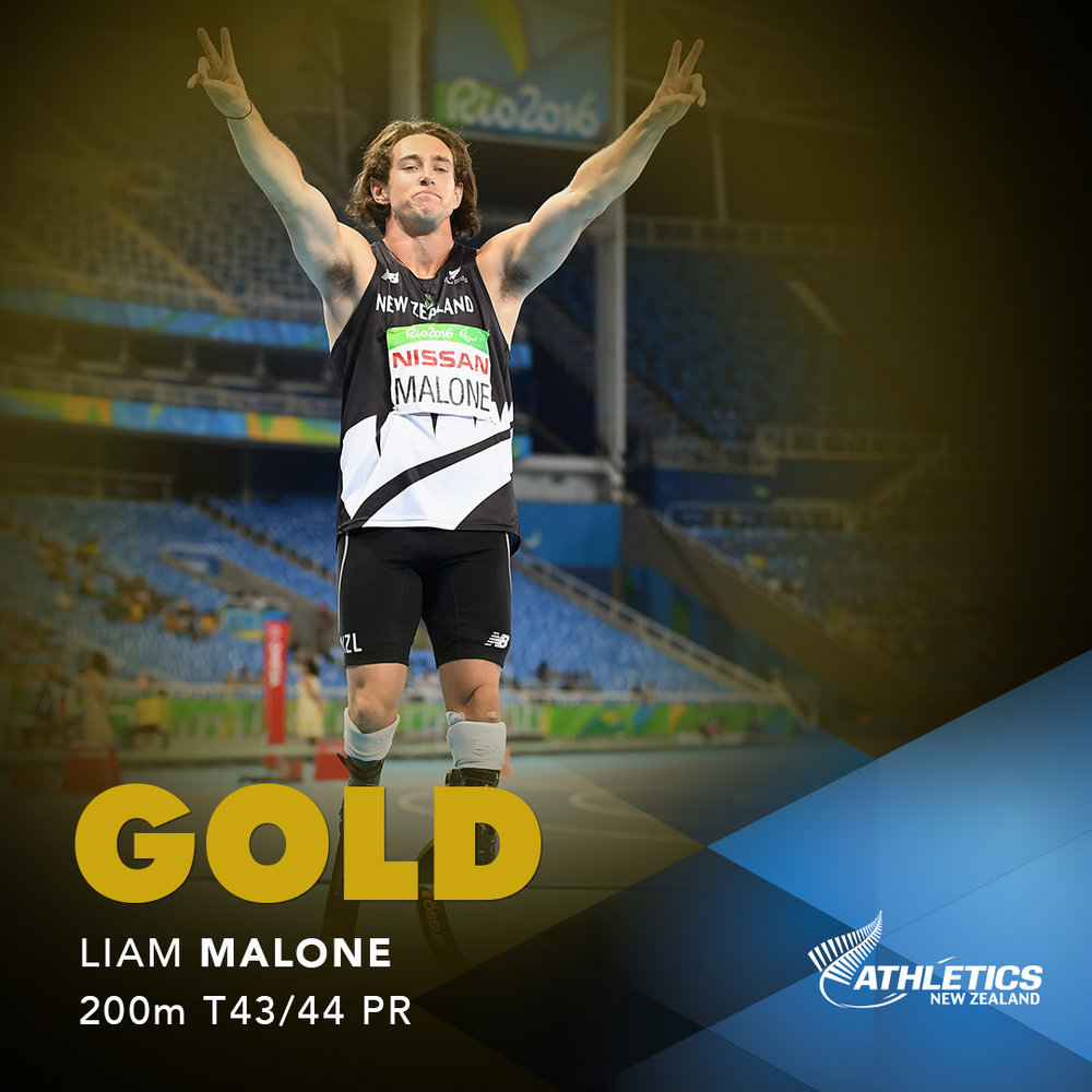 Celebrating Liam Malone's Gold at the Paralympics 2016