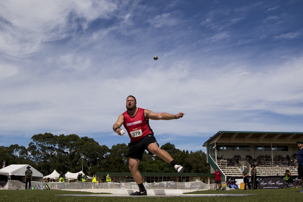 Tom Walsh wins the Shot Put at the New Zealand Track and Field Championships. Hamilton, New Zealand. 11 March 2018. Copyright photo: Alisha Lovrich / www.photosport.nz
