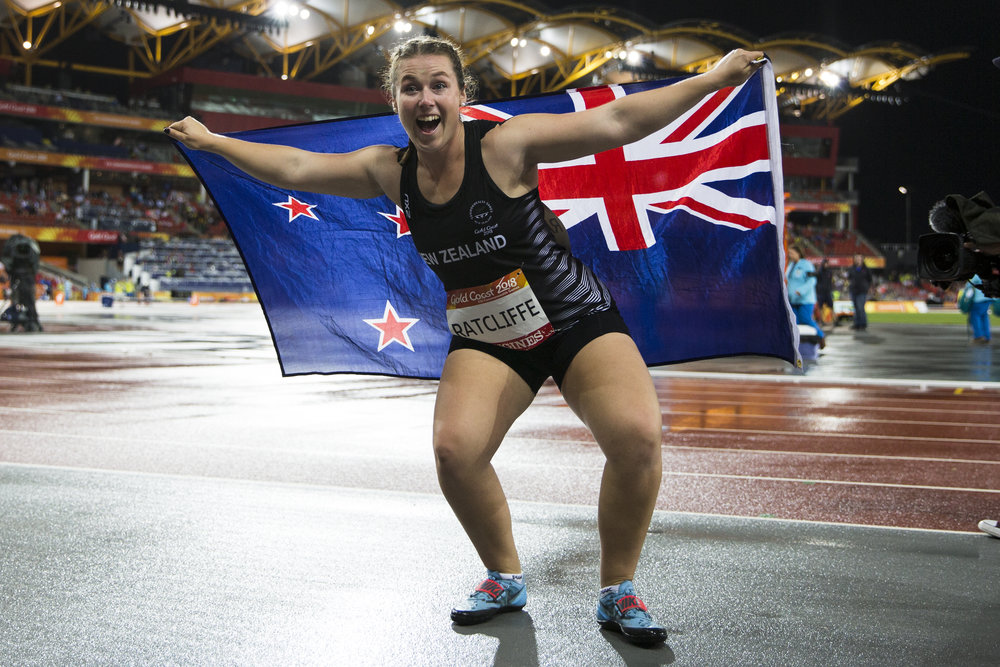 Julia Ratcliffe wins the Hammer Throw at the 2018 Commonwealth Games. Gold Coast, Australia. Copyright photo: Alisha Lovrich / www.photosport.nz