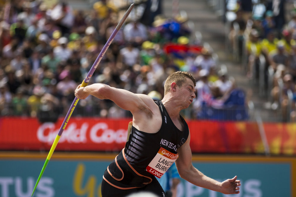 Ben Langton Burnell qualifies for the Javelin Final at the 2018 Commonwealth Games. Gold Coast, Australia. Copyright photo: Alisha Lovrich / www.photosport.nz