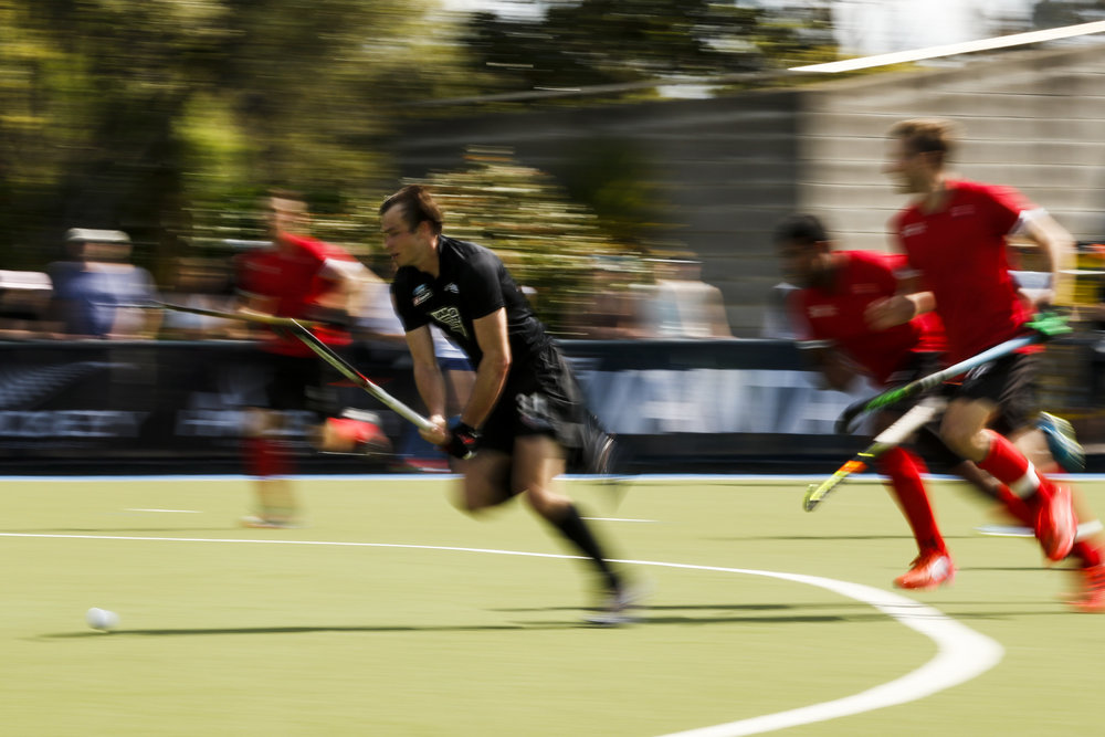 Hayden Phillips at the final game of the Black Sticks v Canada Test Matches 21 October 2018. Copyright photo: Alisha Lovrich / www.photosport.nz