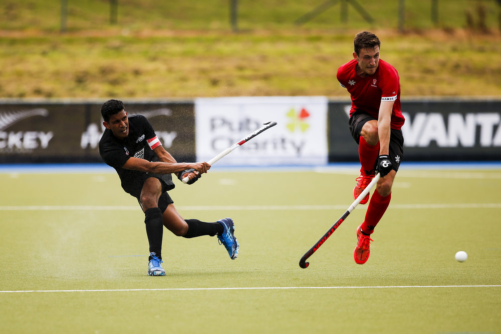 Arun Panchia of the Black Sticks at the Black Sticks v Canada third test. Lloyd Elsmore Park, Auckland. 20 October 2018. Copyright photo: Alisha Lovrich / www.photosport.nz. Copyright photo: Alisha Lovrich / www.photosport.nz