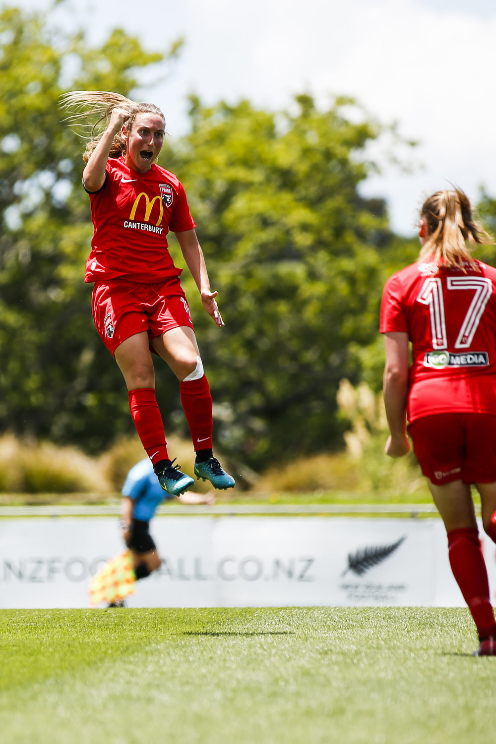 Annalie Longo of Canterbury scores against Northern at the National Women's League Final. 16 December 2018. Trusts Arena, Auckland, New Zealand. Copyright photo: Alisha Lovrich / www.photosport.nz
