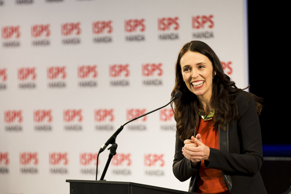 Prime Minister Rt Hon Jacinda Ardern. Opening Ceremony. 2018 Halberg Games 2018. Kings College, Auckland, New Zealand. Friday 5 October 2018 © Photo: Alisha Lovrich / www.photosport.co.nz. Copyright photo: Alisha Lovrich / www.photosport.nz