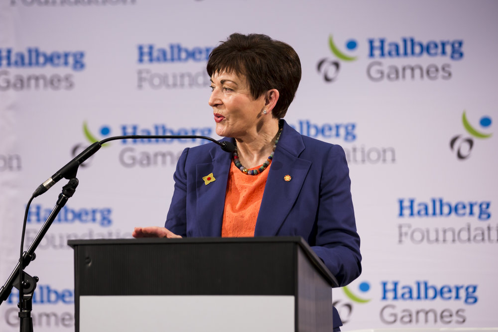 Governor-General Dame Patsy Reddy. 2018 Halberg Games 2018. Kings College, Auckland, New Zealand. Friday 5 October 2018 © Photo: Alisha Lovrich / www.photosport.co.nz. Copyright photo: Alisha Lovrich / www.photosport.nz