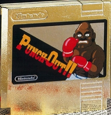The Gold Cartridge, before Tyson was in the game. This version was not an official release.