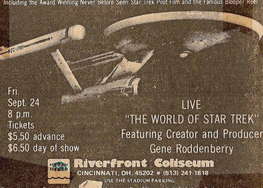 Gene Roddenberry at Riverfront Coliseum