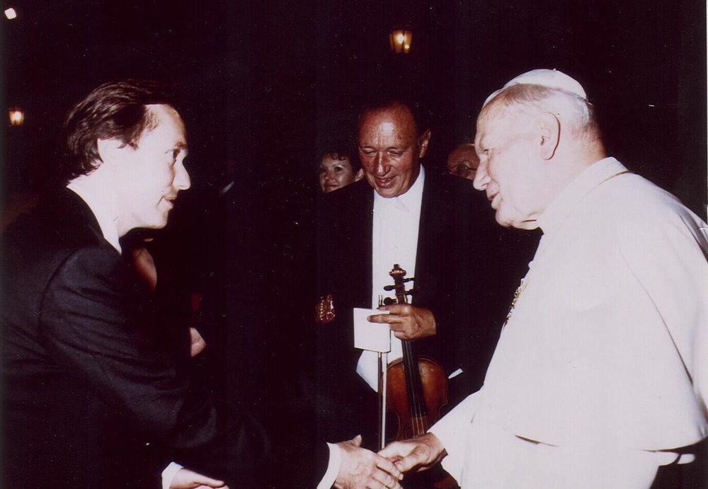 Paul Sutin & Pope JP II.jpg