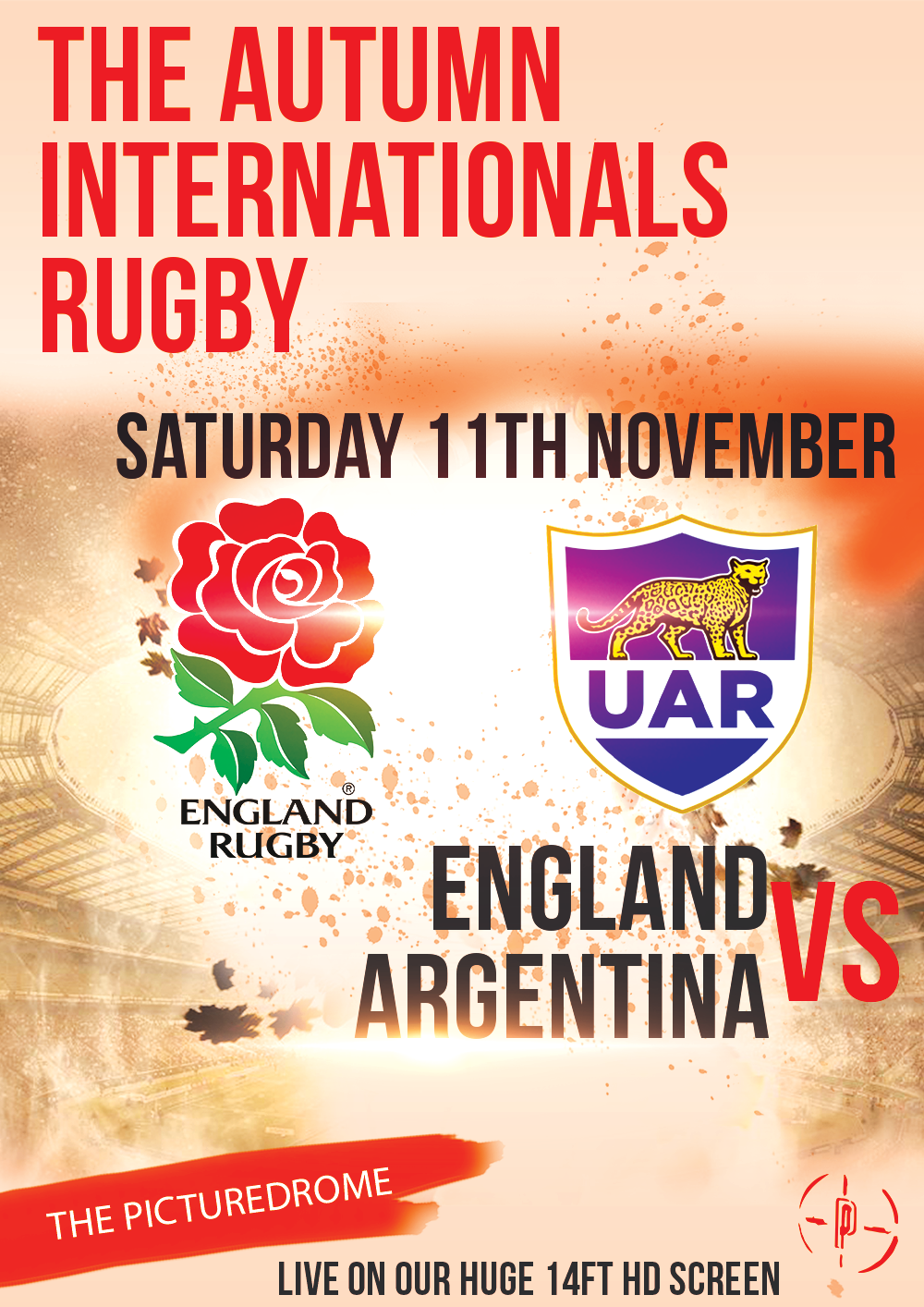 England vs Argentina Saturday 11th November Click here for more event info