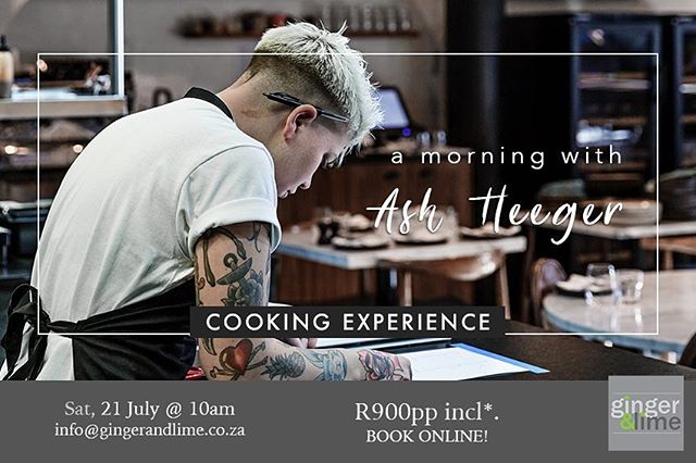 Miss us?  Don't miss Chef Ash next Saturday, 21 July at Ginger & Lime Food Studio.  We'll be cooking some of your favourite dishes and serving some of our favourite wine by Almenkerk Wine Estate.  The answer is yes ... the Fired Mussels are on the Menu!  Tickets are limited.  @gingerandlimect @almenkerk