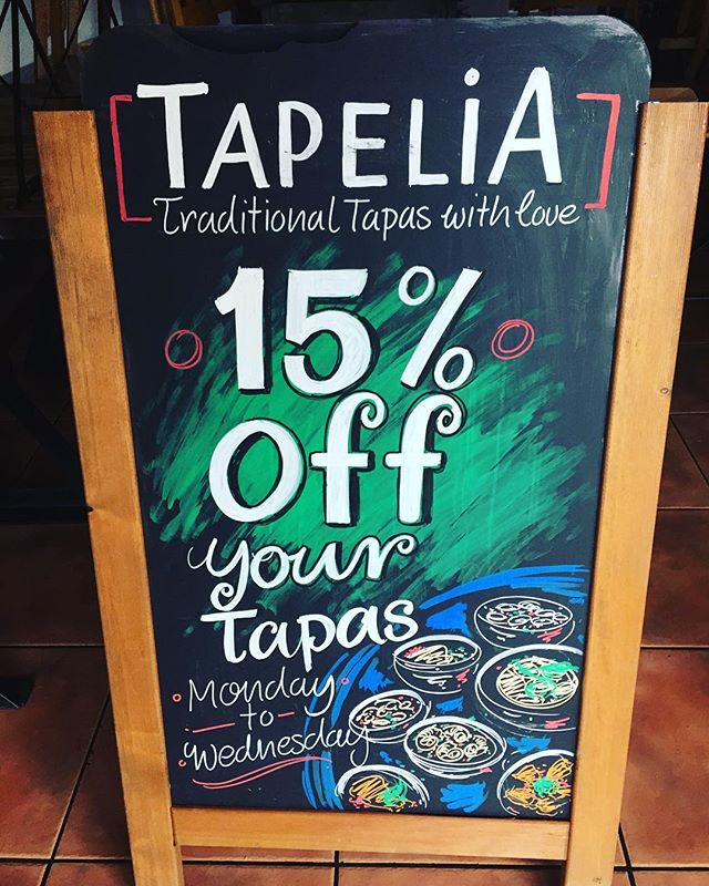 Special Offer 15% off Monday - Wednesday @tapeliarestaurant  Call Now to Book your table  0203 441 1718  #Spanishfood #Tapas #restaurant #bar #Northfields #NorthfieldsAvenue #specialoffer