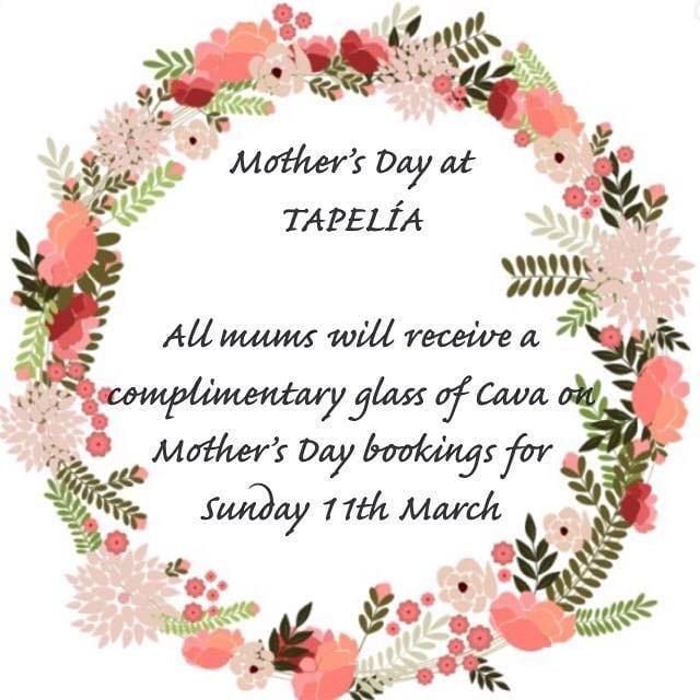 #Tapelia #Northfields #Spanish #Restaurant #Tapas  #Bar #Mothersday #BookNow