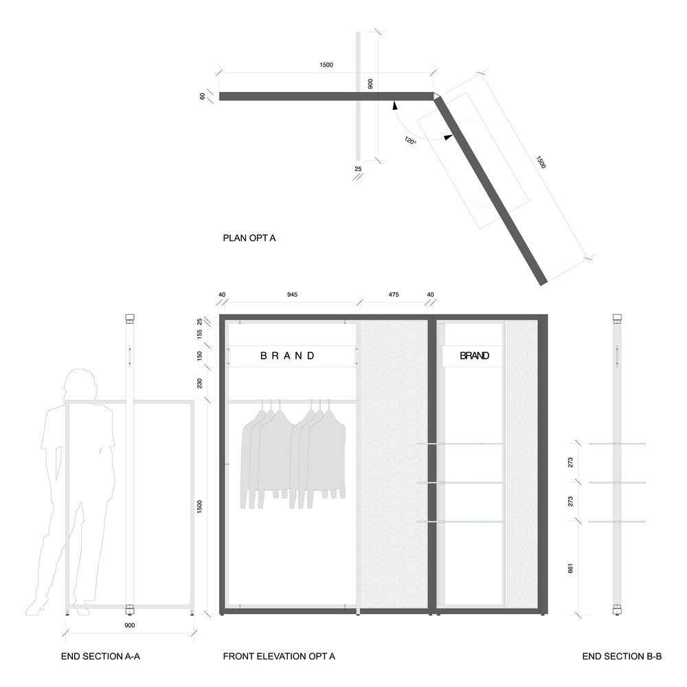 Technical Drawing Retail Design