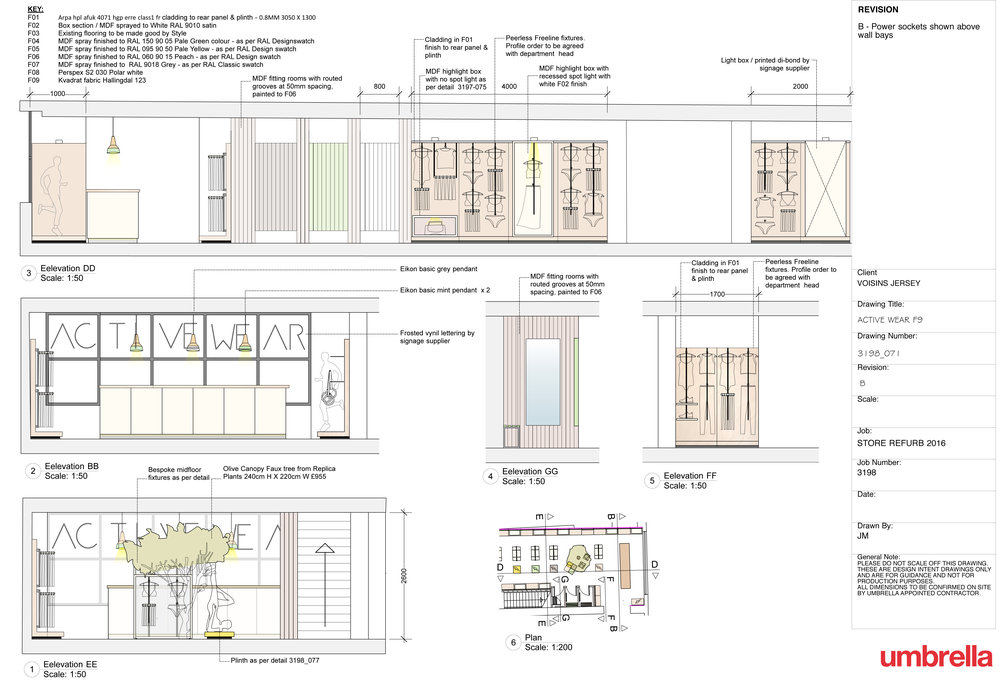 Technical Drawings Retail Interior Shop