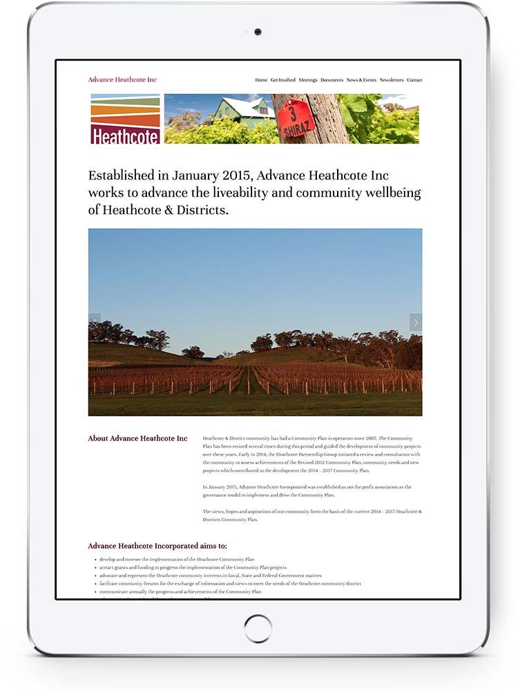 Advance Heathcote website