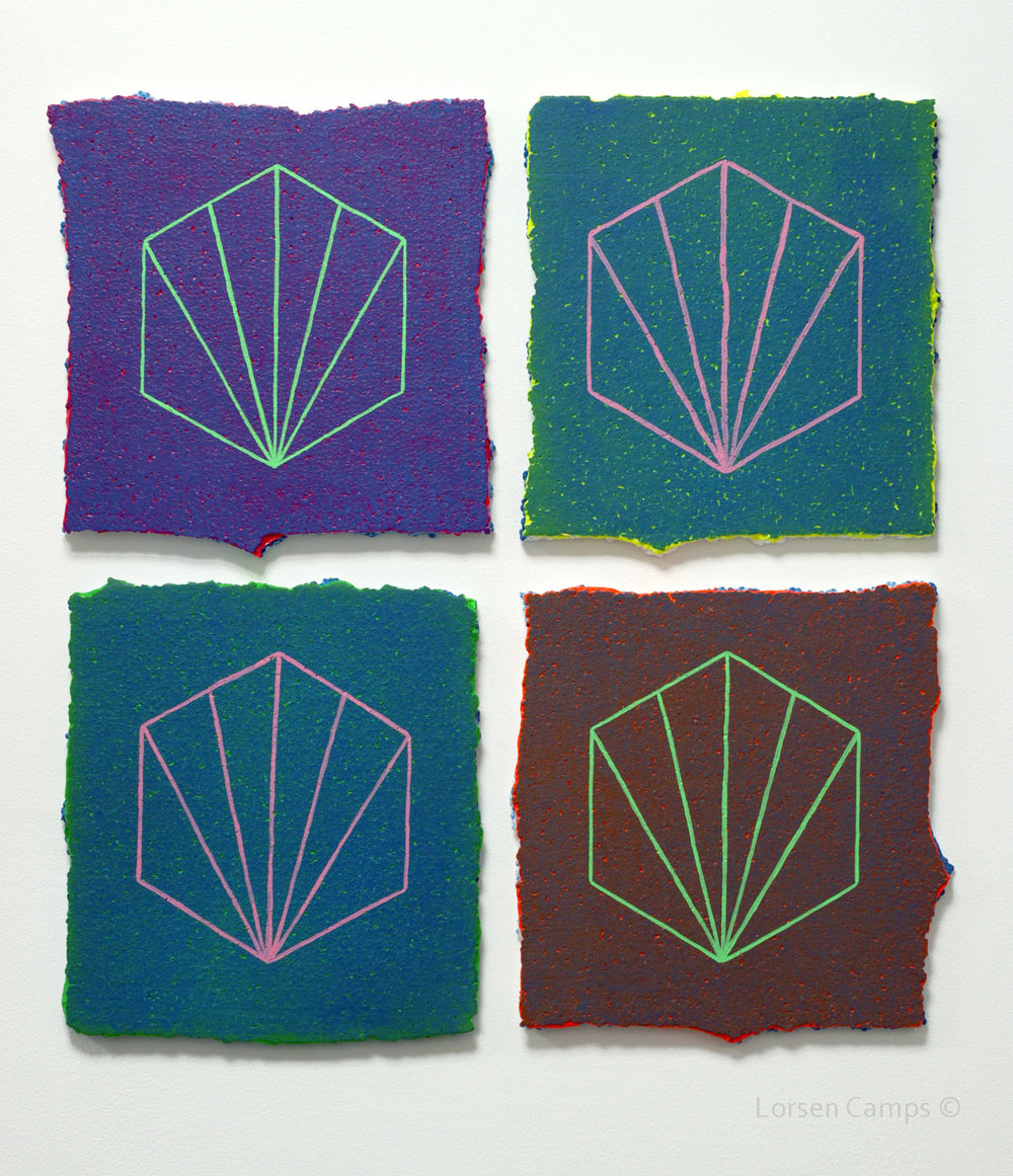 4 Tiles on blue (2018)