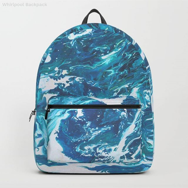You can get some seriously cool stuff on Society6. And it's still 25% off everything! Check out my 'Whirlpool' design on this backpack, floor pillow and rad leggings. I really like it on home decor too: towels, shower curtains, duvet covers and more! *Everything* can be covered in turquoisey, marbly, sea-foamy goodness.  #society6 #society6art #society6artist #backpack #leggings #decor #blue #sea #ocean #seafoam #marble #marbledesign #painting #abstractart #goodvibes #aqua #waterlover #hipster #fashion #beunique #arty #artistsofinstagram