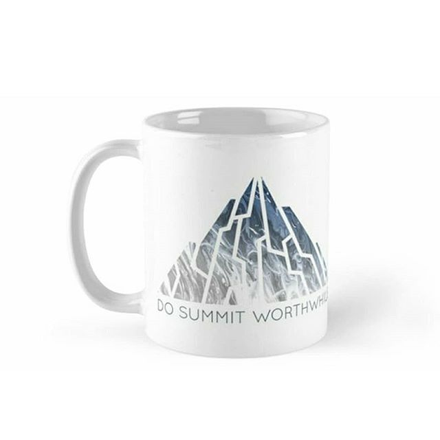 Do summit worthwhile like climbing a mountain... and remind yourself to do so with this mug. It's also available on tees and much, much more! #climbing #climbingjokes #climbingslogan #hikingslogan #hikingtshirt #mountains #mountainlove #pun #climbingpuns #punnymug #funnymug #whitetshirt #fashion #graphicdesign #redbubble