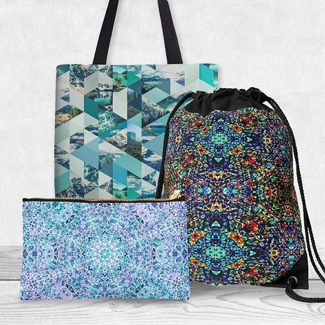 Unique bags for unique you. A bag is a great opportunity to inject personality and colour into your everyday. Please check out my shop for science & nature-inspired, kaleidoscope, colourful, and geometric designs to suit your personality! (Link in bio)  #bags #newbag #clutchbag #makeupbag #drawstringbag #geometric #kaleidoscope #science #nature #blue #teal #fashion #hangbag #backpack #totebag #fashion #gifting #giftideas