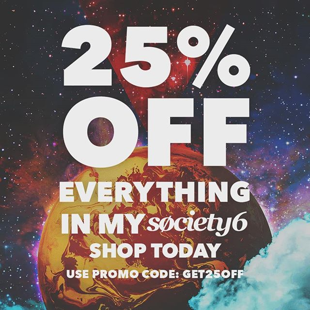 Offer time! Get 25% off everything with the code GET25OFF in my society6 shop. Head to society6.com/TamasinLangton to see what original stuff you can make yours!  #society6 #get25off #society6offer #society6sale #society6discount #planet #science #art #designer #graphicdesign #sciencemerch