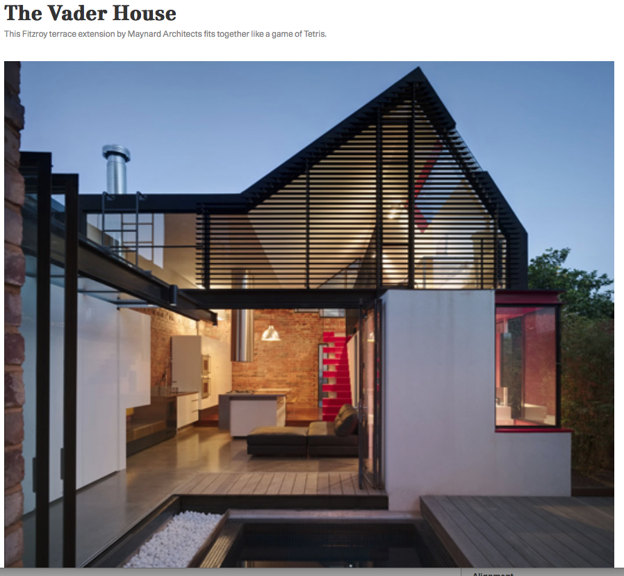 'Vader House', Jesse, Indesignlive, 2009