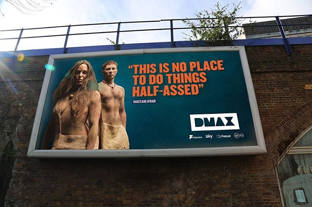 Dmax taking over the streets of London! . #campaign #dmax #tv #channelbranding #broadcast #broadcastbranding #broadcastdesign #billboard #printdesign #typesetting