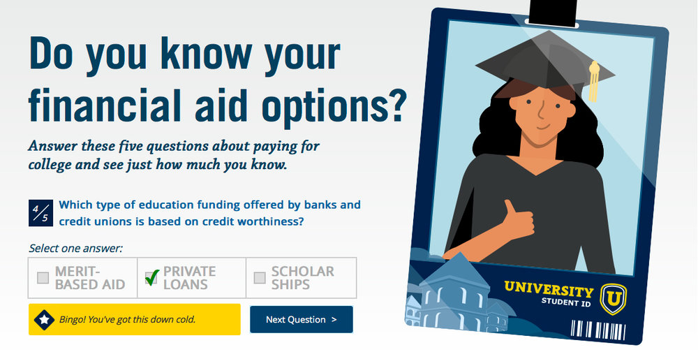 Financial Aid Options Paying for college is the ultimate test. Here's your study guide. Full experience here