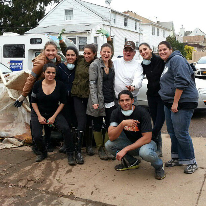 - This picture on the left is of one of the clean up groups I organized and a man from the neighborhood that needed our help. The