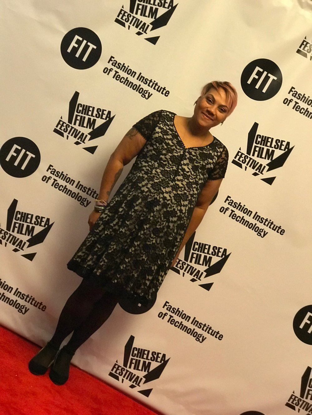 Arlene at the Chelsea Film Festival celebrating her passion for photography.