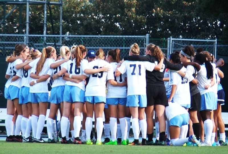 Tar Heels before the home match vs. NC State (9/16/16)