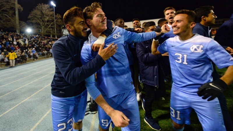 Left to Right: Andy López, Drew Murphy, Nico Melo. Photo courtesy UNC Athletic Communications