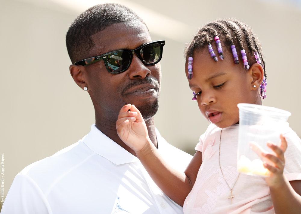 Marvin Williams and daughter Ari