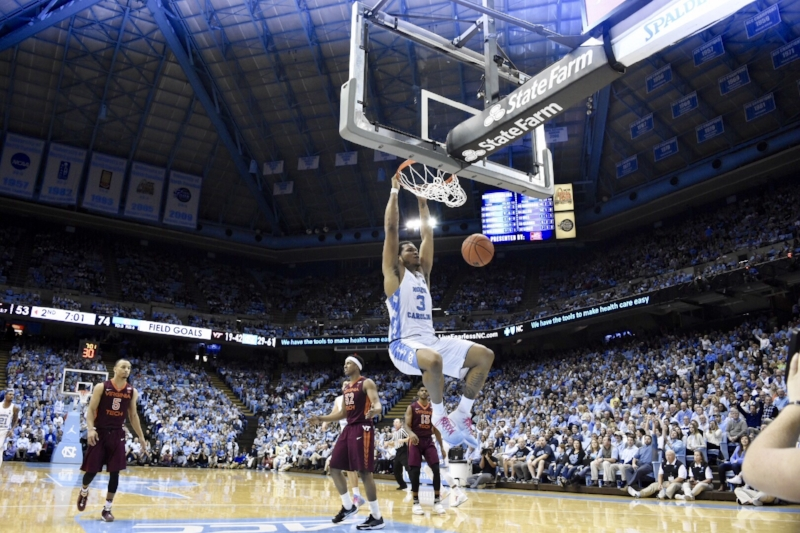 Roy Williams' teams have always thrived behind dominant post players, as they did with Kennedy Meeks (3) last season. | Photo by Turner Walston