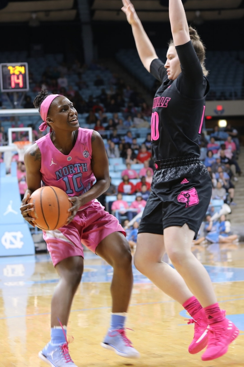 Jamie Cherry (10) nearly led her team to a monumental upset in her final year at UNC. | Photo by Caleb Jones