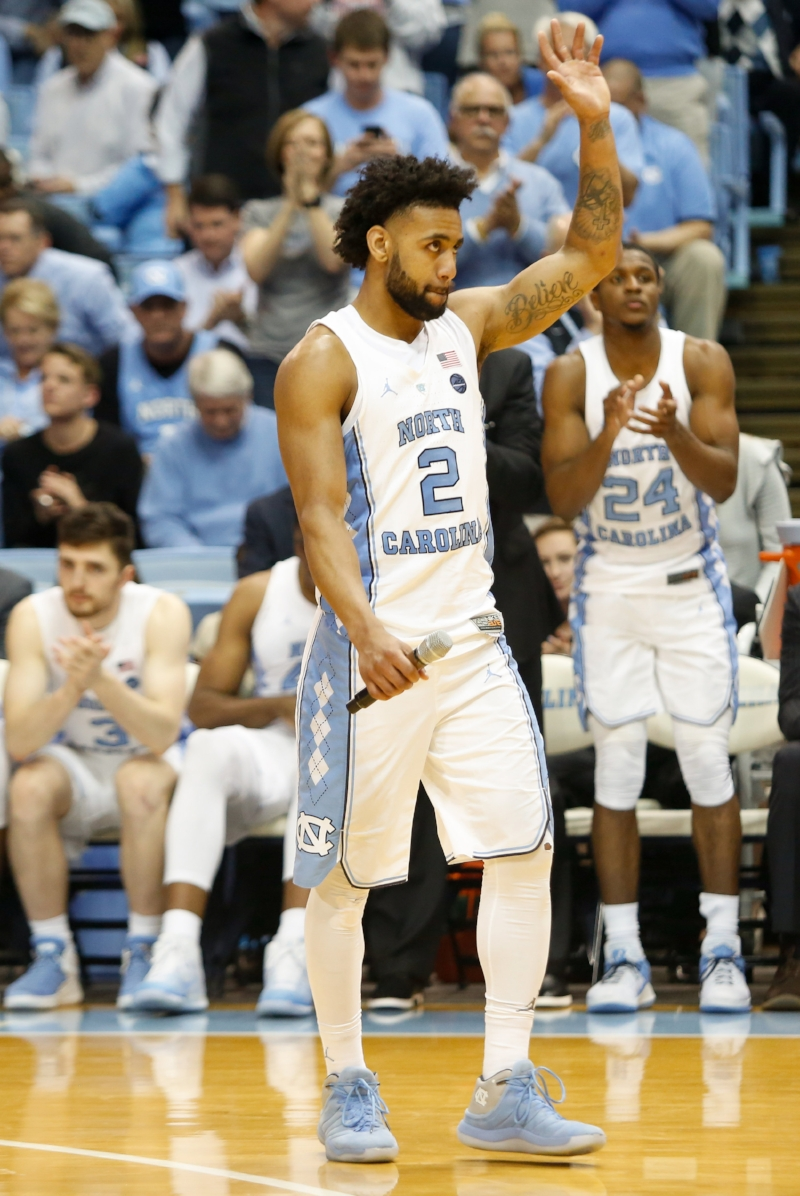 Joel Berry (2) was emotional leading up to Tuesday's senior night, but he still tied his career high with 31 points and scored seemingly all of UNC's points down the stretch in the loss to Miami. | Photo by Alex Kormann