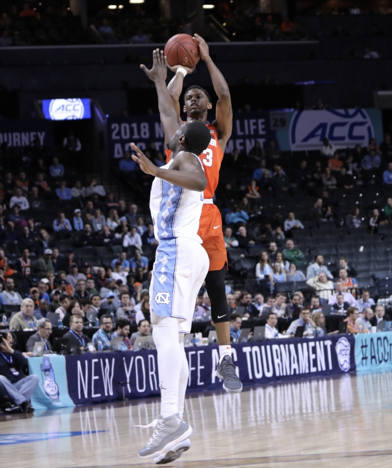 Theo Pinson (above) was one of many cogs in UNC's defensive machine that limited Syracuse to season-low marks against the Tar Heels. | Photo by Caleb Jones