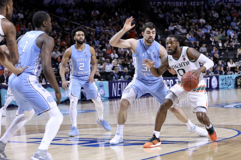 Joel Berry (2) says the Tar Heels are trying not to focus on seeking vengeance or getting lost in emotion. But the ACC Tournament serves as the perfect opportunity for UNC to right wrongs — from Thursday's win over Miami to Friday's matchup with Duke. | Photo by Caleb Jones