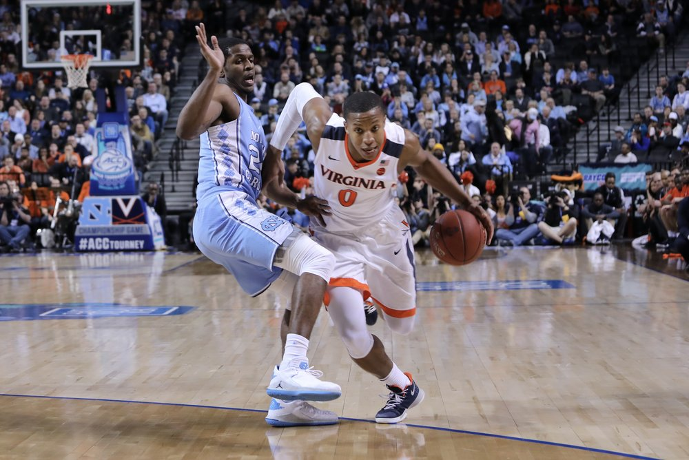 Kenny Williams (24) said UNC's defense didn't match its same level of intensity as it did in the previous three games. In Saturday's ACC Tournament final loss to Virginia, that made all the difference. | Photo by Caleb Jones