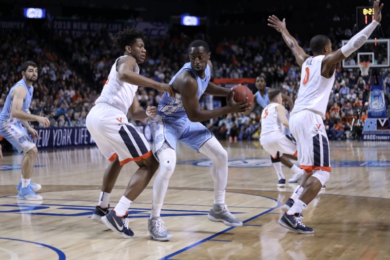 Theo Pinson (1) was just one of the many Tar Heels who couldn't get anything going in UNC's ugly loss to Virginia in January. In Saturday's ACC Tournament final, UNC showed just how far it's come. | Photo by Caleb Jones