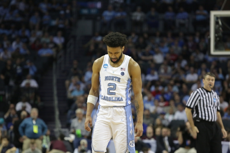 Joel Berry (2) could hardly stomach Sunday's loss to Texas A&M as the final game in his UNC career. He didn't expect it to come so soon, in the second round of the NCAA Tournament. | Photo by Gabi Palacio