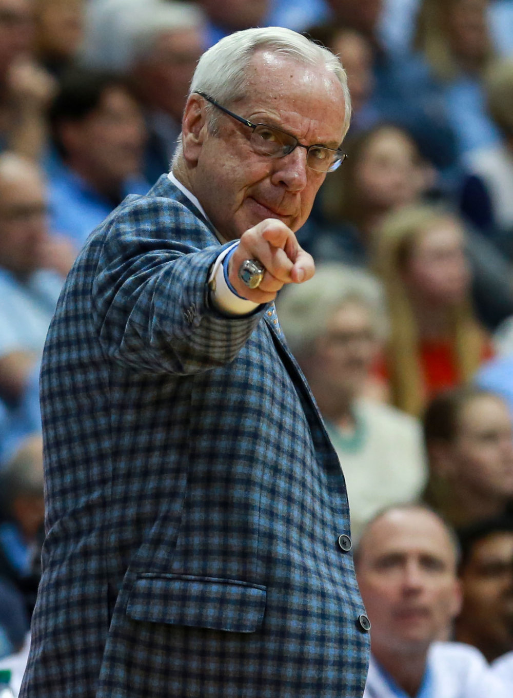 Roy Williams is 30-4 against the N.C. State Wolfpack in his time at Carolina. The average margin of victory in those 30 wins is 14.3 points. | Photo by Alex Kormann