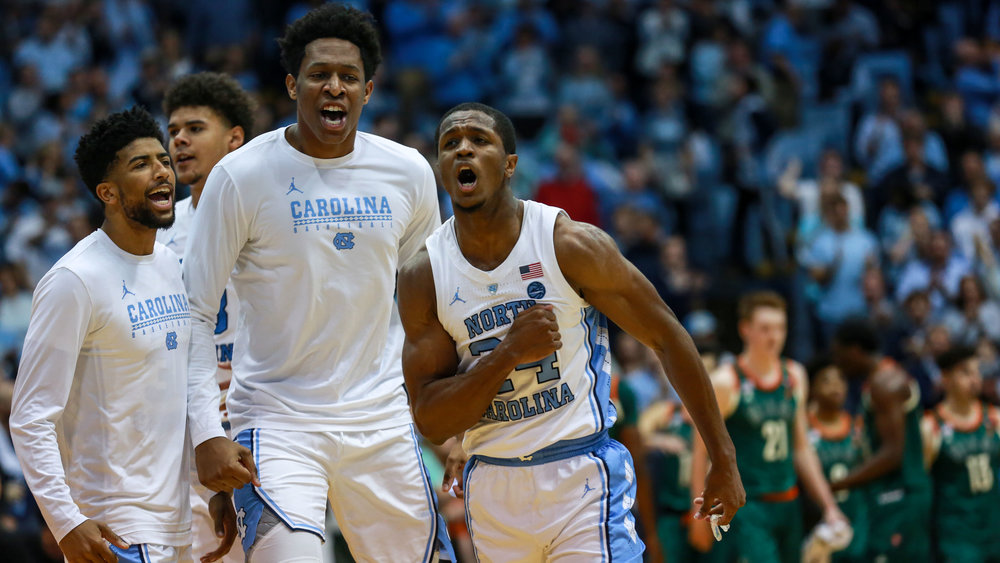 Kenny Williams struggled early, but his clutch three-pointer in OT and lock-down defense down the stretch, in addition to his senior leadership, helped UNC squeak out a win. | Photo by Alex Kormann