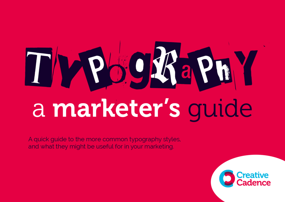 marketers typography guide