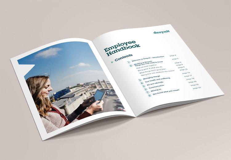 Employee Handbook For Desynit Creative Cadence - Employee handbook design