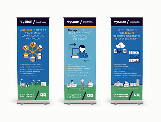 Vysiion pull-up banner stands